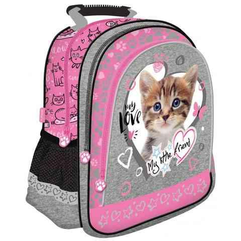b32c01cc849c My Little Friend Cicás pink iskolatáska, hátizsák 29x38x11cm ...