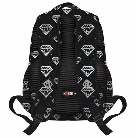 dd905d932d05 St.Right Diamonds háromrekeszes iskolatáska, hátizsák vásárlás a ...