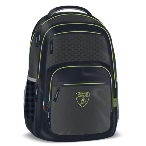 a653f8a5cc Lamborghini lekerekített zöld iskolatáska, hátizsák 33x49x23cm ...