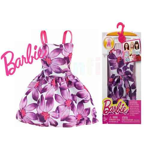 Barbie Lila virágos nyári ruha - Mattel vásárlás a Játékshopban ff3e0c518a