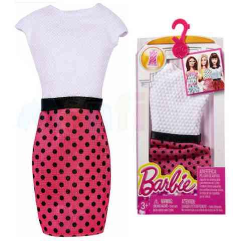 Barbie Pöttyös szoknya fehér felsővel - Mattel vásárlás a Játékshopban 5817cce337