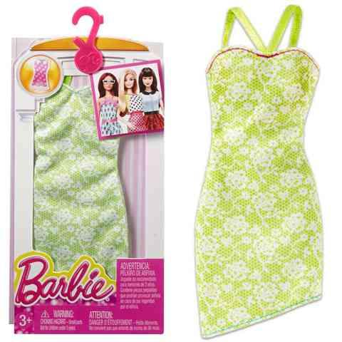 Barbie Zöld ruha virág mintával - Mattel vásárlás a Játékshopban 7e26a485ad