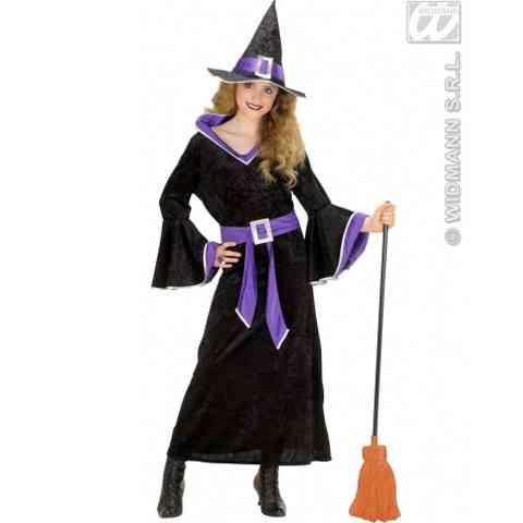 Boszorkány jelmez gyerekeknek lila-fekete színben M méret vásárlás a ... fb216a974c