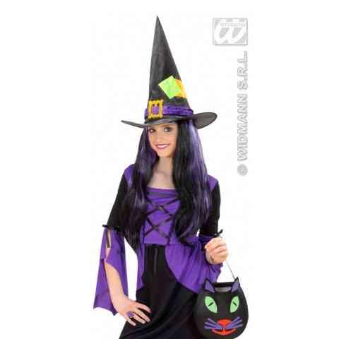 Csinos divatos szatén boszorkány kalap vásárlás a Játékshopban 9f70e87793