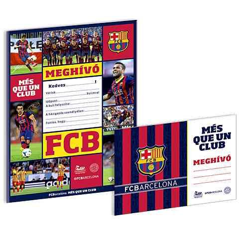 focis szülinapi meghívók FC Barcelona meghívó borítékkal 10db vásárlás a Játékshopban focis szülinapi meghívók