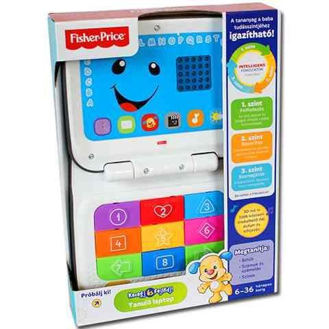 Fisher-Price: Kacagj és Fejlődj! Tanuló laptop szürke - Mattel