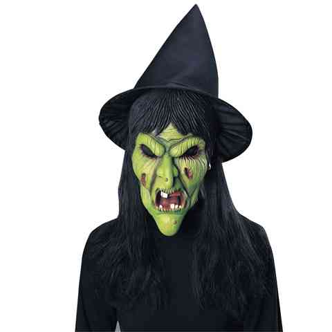 Gonosz boszorkány maszk parókával és kalappal vásárlás a Játékshopban b72c039bb1