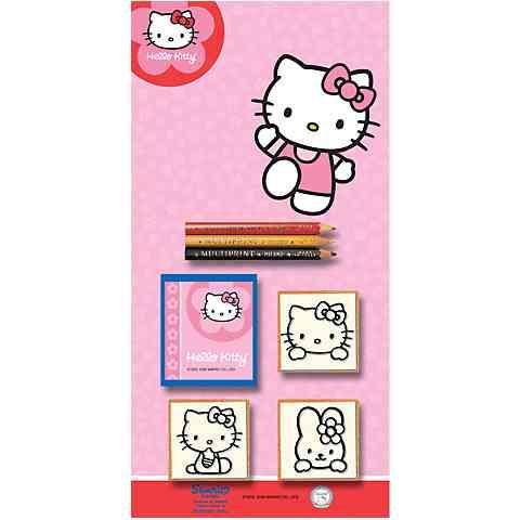Hello Kitty 3db-os nyomdaszett színes ceruzákkal vásárlás a Játékshopban 115bae2422