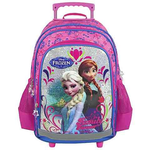 Jégvarázs gurulós iskolatáska, hátizsák Frozen