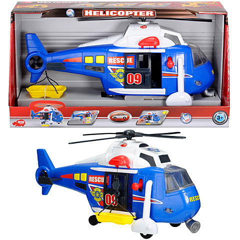 Rendőr helikopter fénnyel és hanggal - Dickie Toys