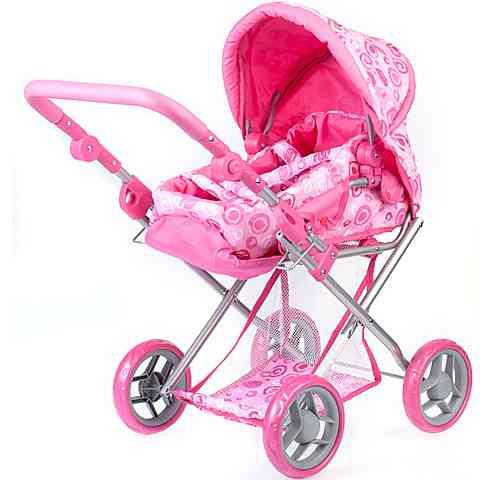 Rózsaszín babakocsi napellenzővel vásárlás a Játékshopban 1c77abcf3b