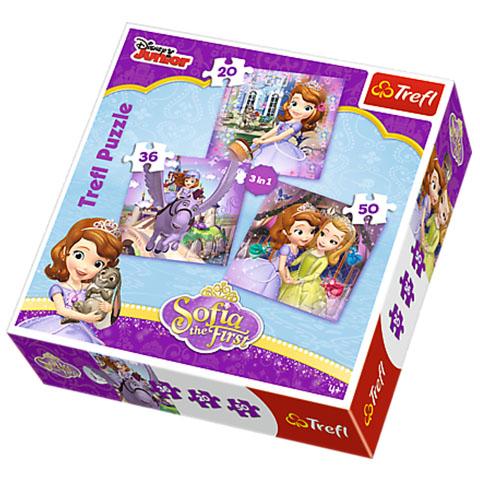Szófia hercegnő 3 az 1-ben puzzle - Trefl 933206f2d5
