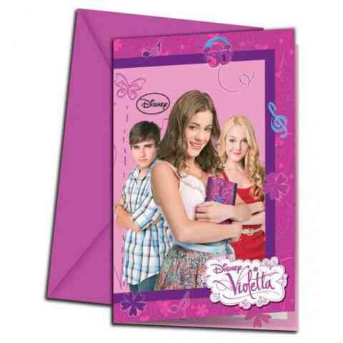 violettás szülinapi meghívó Violetta party meghívó borítékkel 6db os szett vásárlás a Játékshopban violettás szülinapi meghívó