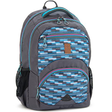 Kék-szürke ergonomikus iskolatáska 00f21b4281
