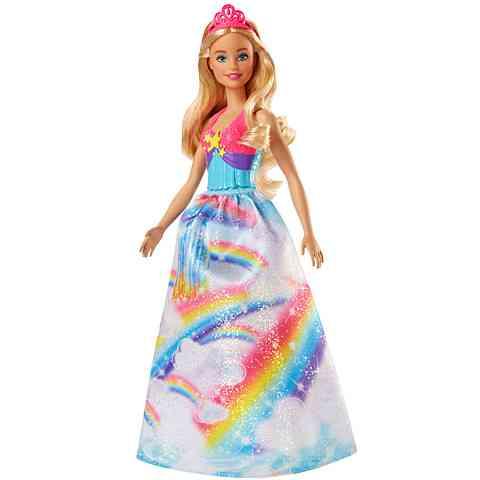 Barbie Dreamtopia Szőke hercegnő baba szivárványos ruhában - Mattel ... 97eac2cdd2