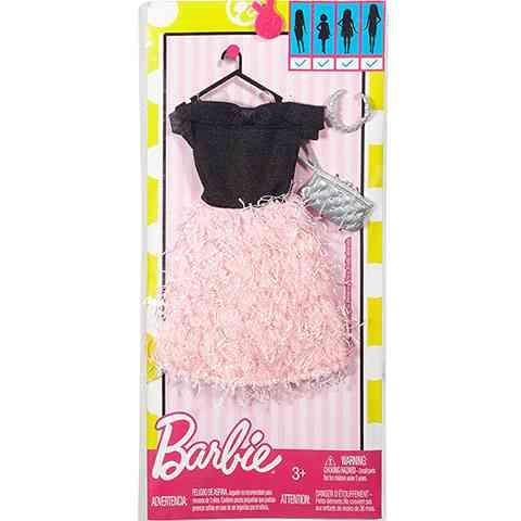 Barbie Fodros rózsaszín szoknyás ruha - Mattel vásárlás a Játékshopban 0ac780626c