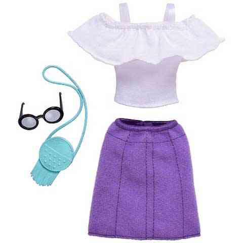 Barbie Ruhaszett lila szoknyával - Mattel vásárlás a Játékshopban 7c215a9ee4