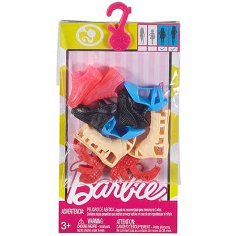 Barbie Tavaszi-nyári cipők 5db-os szett - Mattel vásárlás a Játékshopban 739ccae35e