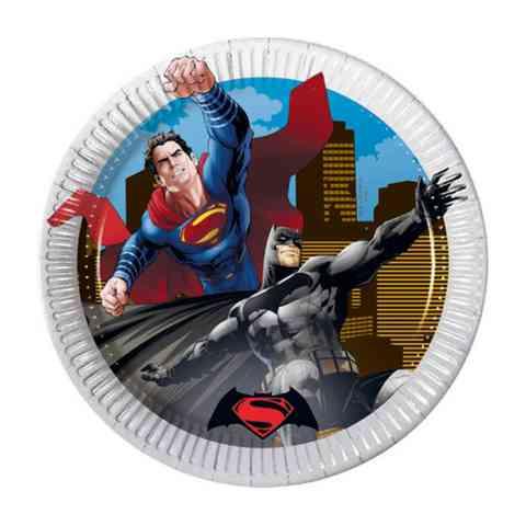 Batman vs. Superman party papírtányér 20cm 8db-os szett vásárlás a ... a4dafb6f57