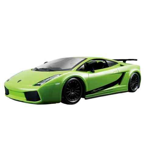 Bburago Lamborghini Gallardo Superleggera fém autó zöld színben 1 24 ... ab082a147b