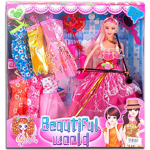 Beautiful World Divatbaba extra ruhákkal és kiegészítőkkel vásárlás ... b19730b1e9