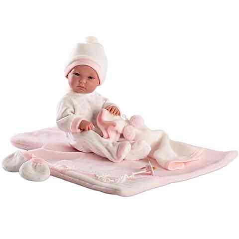 Bimba újszülött lány baba takaróval 35cm aed3852857