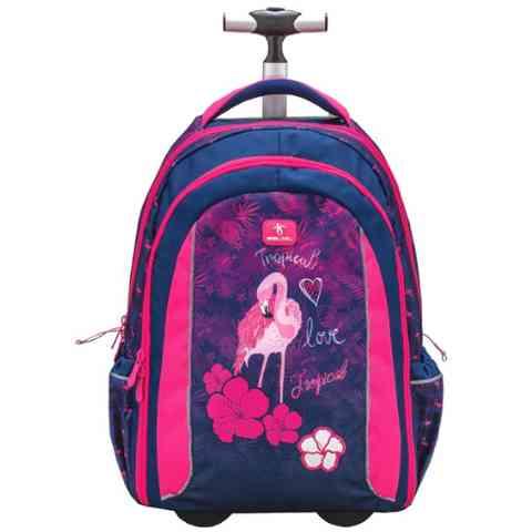 415db84570af Belmil Flamingo gurulós iskolatáska, hátizsák 47x33x20cm vásárlás a ...