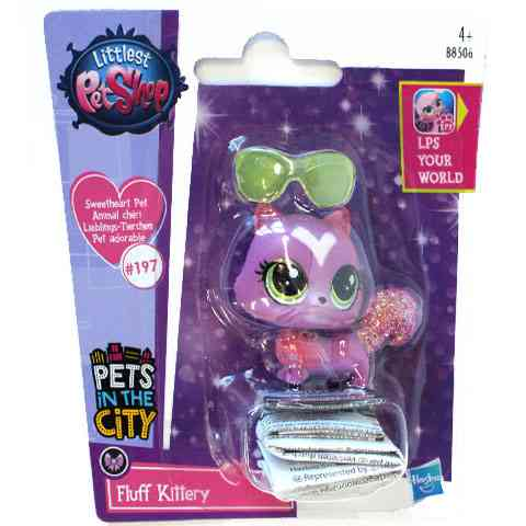 Littlest Pet Shop: Fluff Kittery figura 4cm