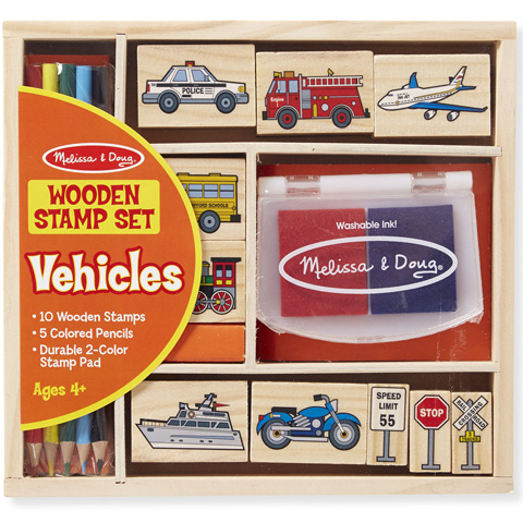 bb60d1021a Járművek fa nyomda készlet ceruzákkal - Melissa & Doug vásárlás a ...