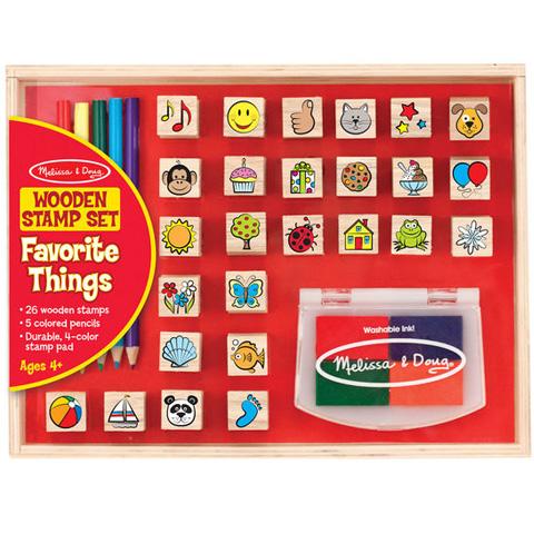 b3ed7c7075 Kedvenceim fa nyomda készlet ceruzákkal - Melissa & Doug vásárlás a ...