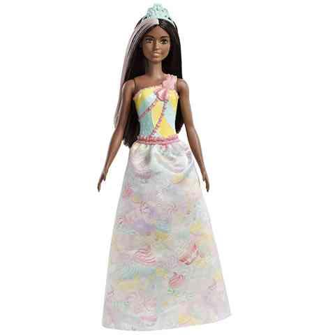 Barbie - Dreamtopia Fekete hajú hercegnő tiarával - Mattel vásárlás ... 64b956dbb0