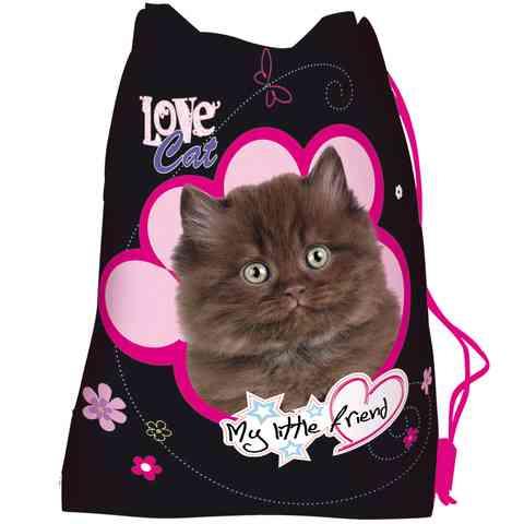 My Little Friend fekete cicás tornazsák sportzsák vásárlás a ... a7f1a717c7