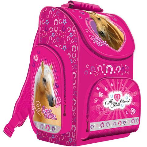 My Little Friend Lovas rózsaszín ergonomikus iskolatáska hátizsák a8e4c2a73c