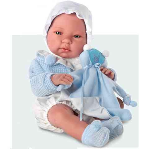 Nico fiú baba kék ruhában 38 cm vásárlás a Játékshopban 3c72e96bb2