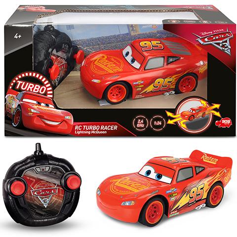 Verdák: RC Turbo Racer Villám McQueen távirányítós autó 2,4 GHz 1/24 - Dickie Toys
