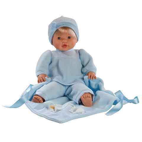 Nico síró fiú baba kék takaróval 48cm vásárlás a Játékshopban c4beeb79e4