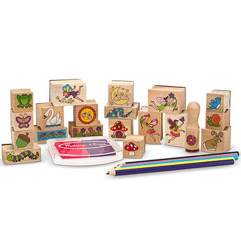 caf9ecf6ed Tündérkert fa nyomda készlet ceruzákkal - Melissa & Doug vásárlás a ...