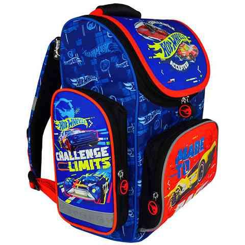 4a0c114d64eb Hot Wheels ergonomikus iskolatáska, hátizsák kék-piros színben ...