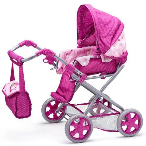 Unikornis mintás rózsaszín összecsukható babakocsi - Woodyland ... 53e70c12e7