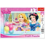 Disney Hercegnők: Tea party 15db-os puzzle - Trefl