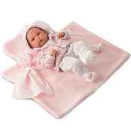 Bimba újszülött baba pléddel 35cm-es - Llorens f59b7c6125