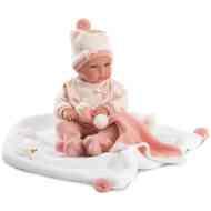 Bimba újszülött baba takaróval 35cm-es - Llorens 5d7256bc37