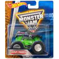 Hot Wheels - Monster Jam: Grave Digger jármű - Mattel
