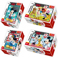 Mickey és Minnie 54db-os mini puzzle 4 féle - Trefl