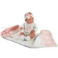 Nica újszülött baba kockás pléddel 40cm-es - Llorens 2d73d58b97