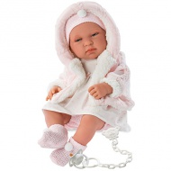 Raktáron 3+ Tina újszülött lány baba rózsaszín ruhában 43cm-es - Llorens 18  990 ft 13 990 ft 97a7443453