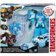 Transformers Robots In Disguise Mini-Con Deployers Autobot Drift és Jetstorm figurák